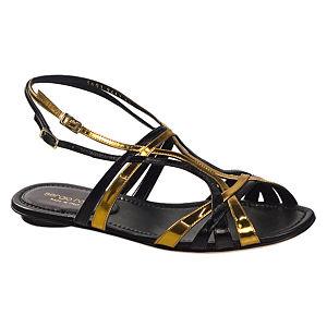 Sergio Rossi Siyah-Dore Sandalet
