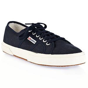 Superga İçi Kürklü Lacivert Bez Ayakkabı