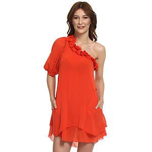 TFNC London Çiçekli Mercan Elbise
