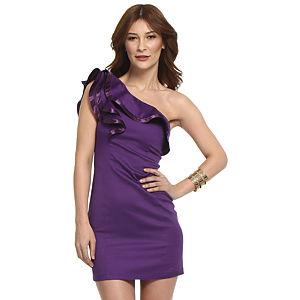 TFNC London Fırfırlı Mor Elbise