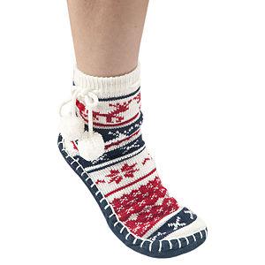 Twigy Kış Desenli Lacivert Çorap
