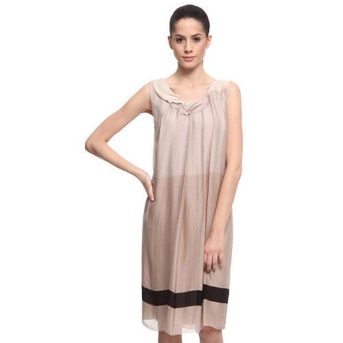 Vera Wang Bej Degrade Elbise