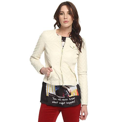 Vero Moda Krem Deri Ceket
