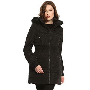 Vero Moda Kürklü Siyah Mont