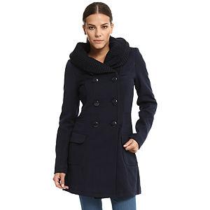 Vero Moda Örgü Yakalı Lacivert Palto