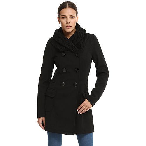 Vero Moda Örgü Yakalı Siyah Palto