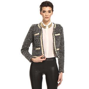 Vero Moda Siyah/Beyaz Kırçıllı Ceket