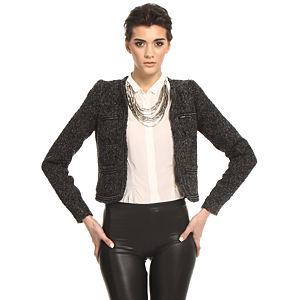 Vero Moda Siyah/Füme Kırçıllı Ceket