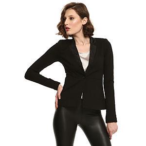Vero Moda Yakası Pullu Siyah Ceket
