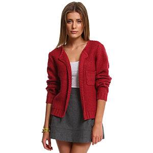 American Vintage Bordo Örgü Ceket