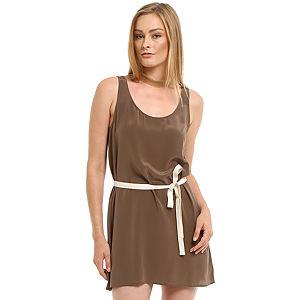 American Vintage Kahverengi İpek Elbise