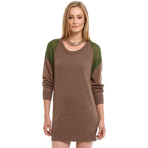 American Vintage Kahverengi/Yeşil Elbise