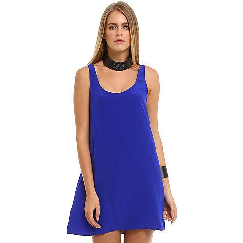 American Vintage Saks Mavisi İpek Elbise