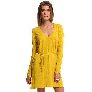 American Vintage Sarı Elbise