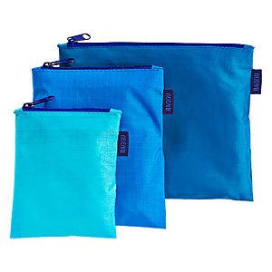 Baggu Mavi Ekolojik 3'lü Mini Çanta Seti
