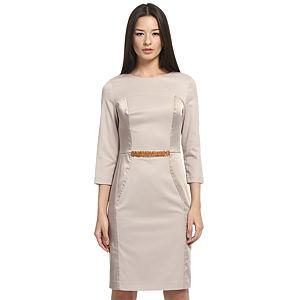 Balizza Bej Panel Elbise