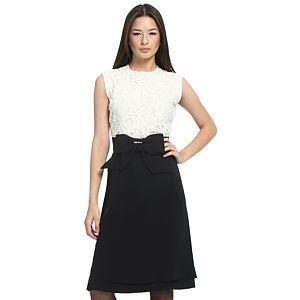 Balizza Dantelli Krem/Lacivert Elbise