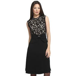 Balizza Dantelli Siyah Elbise