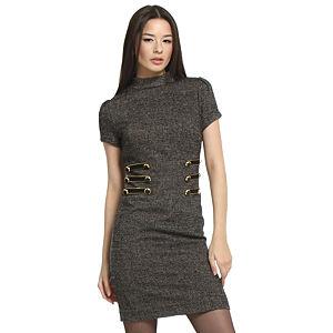 Balizza Kırçıllı Gri Elbise