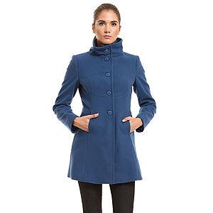 Benetton Mavi Yün Palto