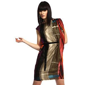 Benetton Şal Omuzlu İpek Elbise
