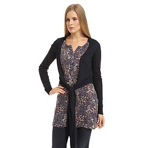 Colin's Lacivert Hırkalı Çiçekli Elbise