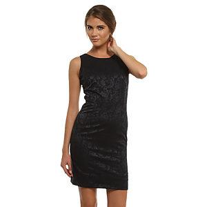 Enmoda Çiçekli Lacivert/Siyah Elbise