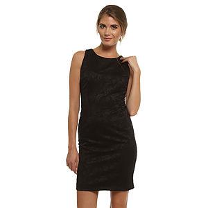 Enmoda Çiçekli Siyah Elbise