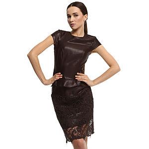 Enmoda Dantelli Kahverengi Elbise