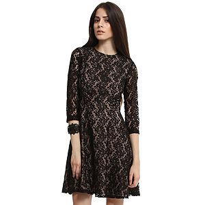 Enmoda Dantelli Siyah/Bej Elbise