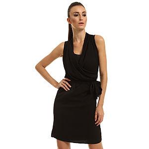 Enmoda Kuşaklı Siyah Elbise