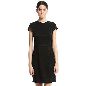 Enmoda Siyah Brokar Elbise