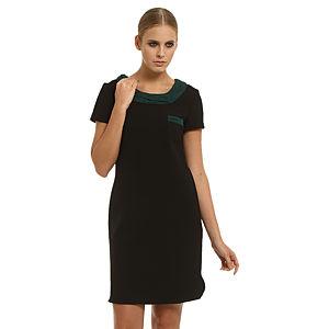 Gipsy Kısa Kollu Siyah Elbise