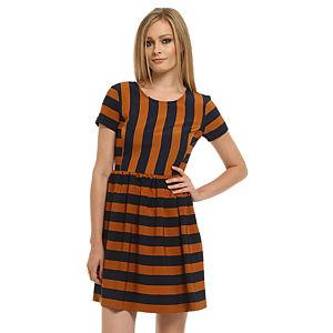 Gipsy Lacivert/Turuncu Çizgili Elbise