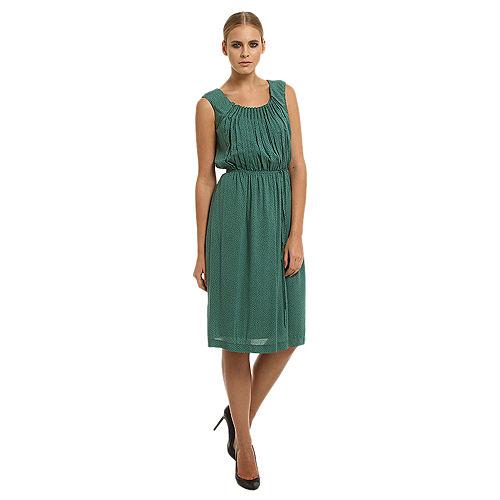 Gipsy Puantiyeli Yeşil Elbise