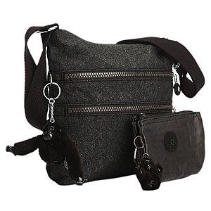 Kipling Siyah Simli İkili Çanta