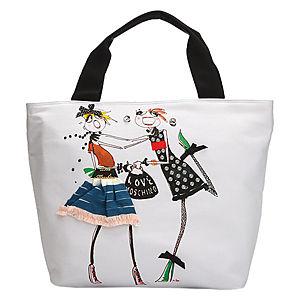 Love Moschino Baskılı Beyaz Çanta