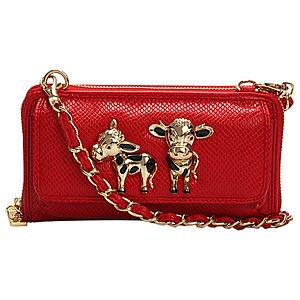 Love Moschino İnekli Kırmızı Çanta