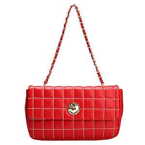 Love Moschino Kareli Kırmızı Küçük Çanta