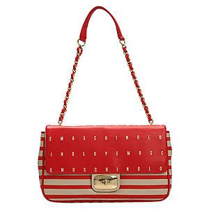 Love Moschino Kırmızı/Bej Çizgili Çanta
