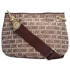Love Moschino Yazı Desenli Kahverengi Çanta