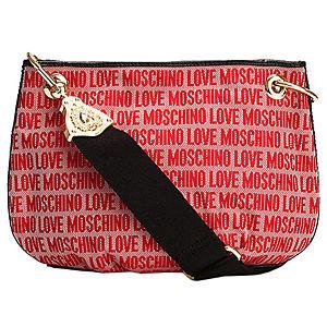 Love Moschino Yazı Desenli Kırmızı Çanta