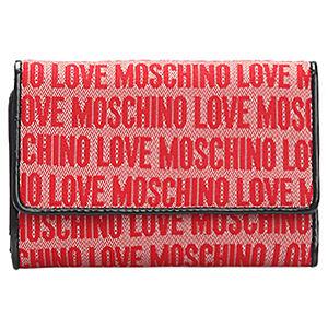 Love Moschino Yazı Desenli Kırmızı Cüzdan