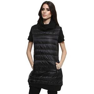 Moncler Kısa Kollu Siyah Elbise