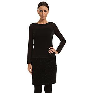 Perspective Uzun Kollu Siyah Elbise