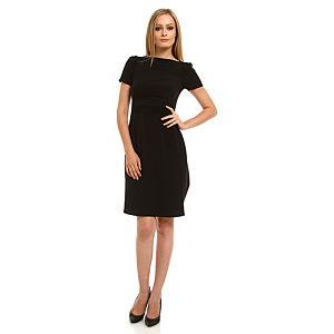 Roman Peplumlu Siyah Elbise