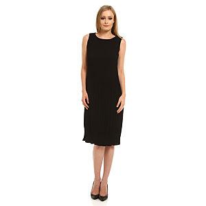Roman Piliseli Siyah Elbise