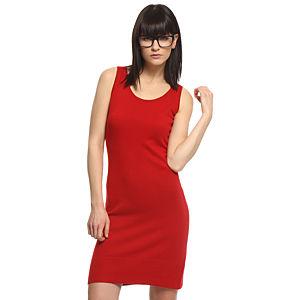 Silk & Cashmere Kırmızı İpek/Kaşmir Elbise