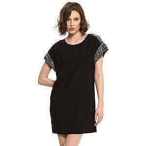 Vero Moda İşlemeli Siyah Elbise