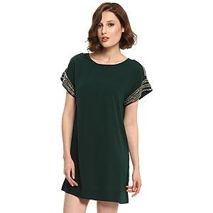 Vero Moda İşlemeli Yeşil Elbise